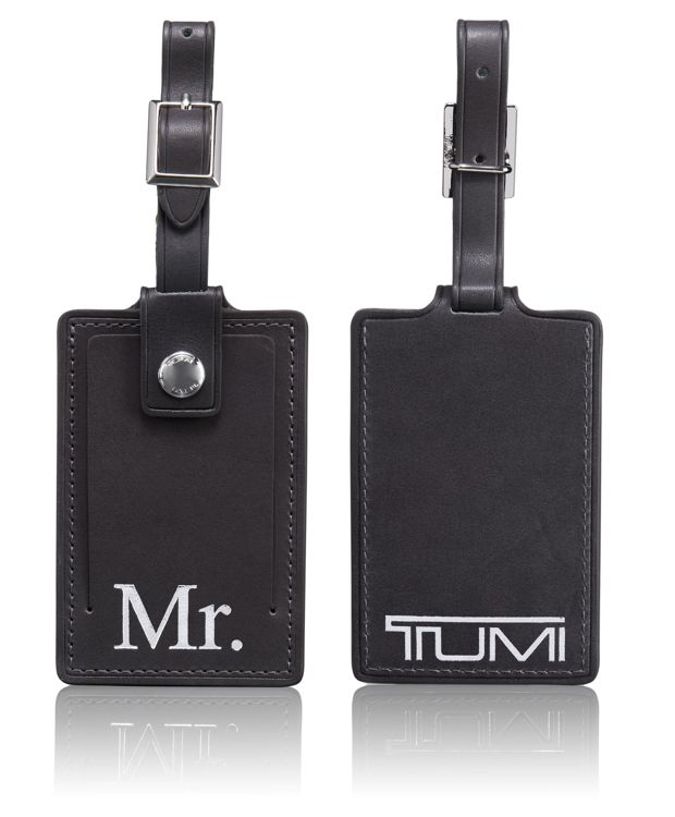 Mr. Luggage Tag in Charcoal
