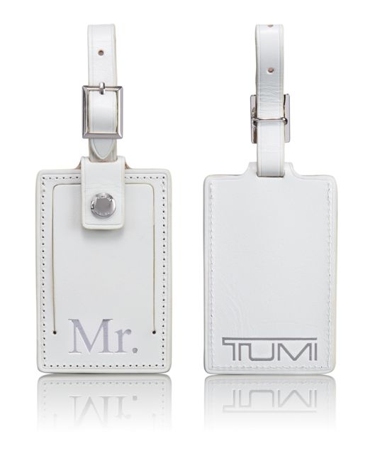 Mr. Luggage Tag in White