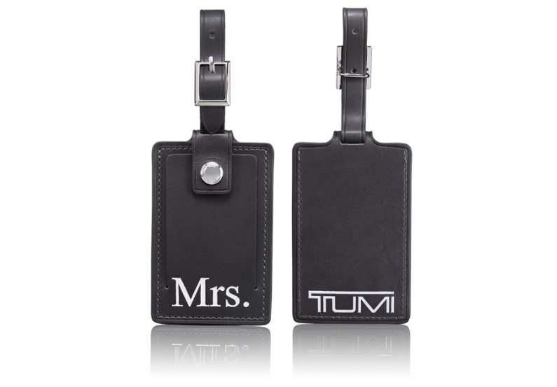 Mrs. Luggage Tag in Charcoal