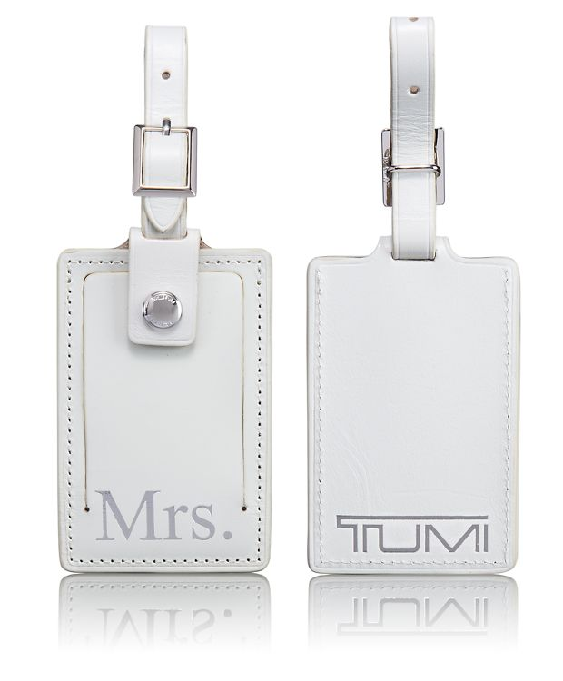 Mrs. Luggage Tag in White