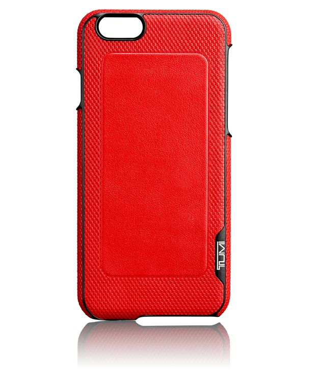 TUMI Leather Cover for iPhone 6 and 6S in Red
