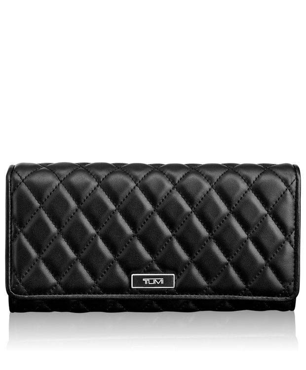 Continental Wallet in Black