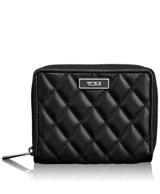 Zip-Around Small Wallet in Black