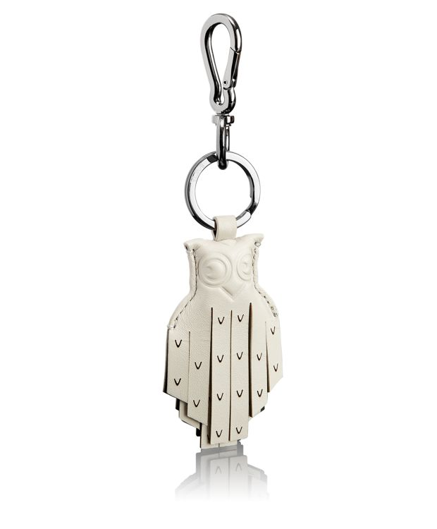 Fringe Owl Key Fob in Ash