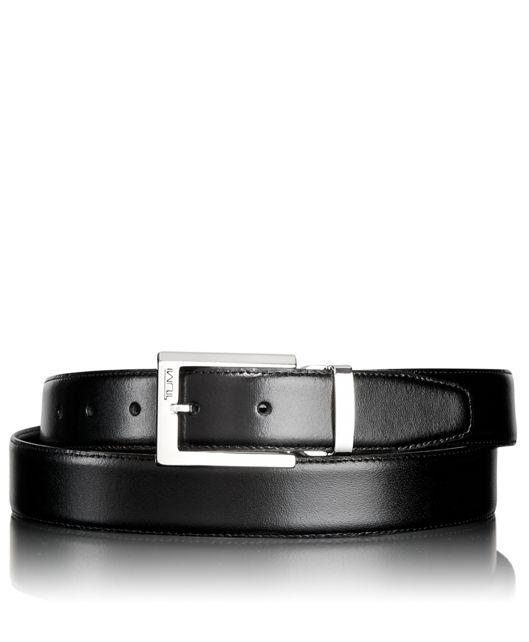 Polished Harness Reversible Belt in Nickel Reversible