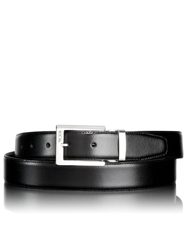Polished Harness Reversible Belt in Nickel Reversible