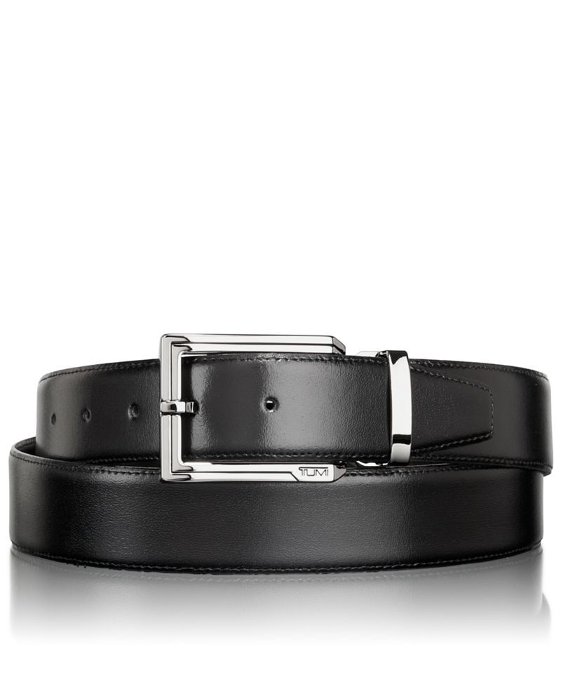 Polished Etched Buckle Reversible Belt
