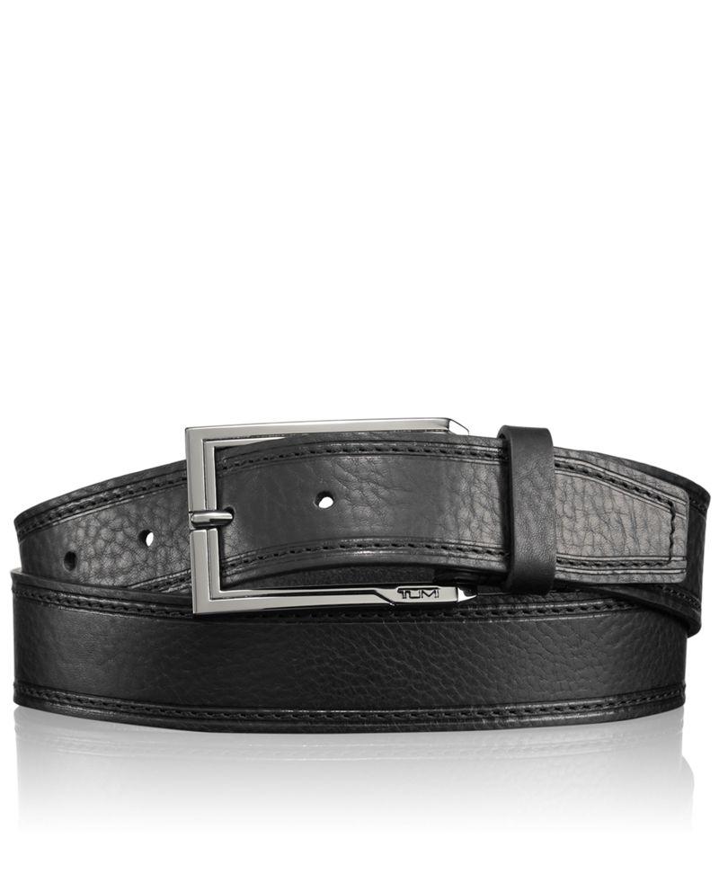 Stitched Pebbled Belt