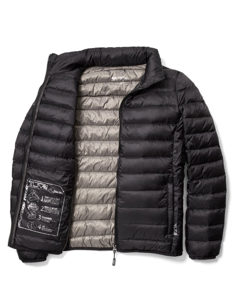Black Patrol Packable Travel Puffer Jacket