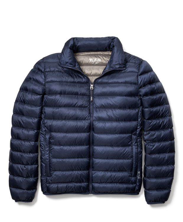 Navy Patrol Packable Travel Puffer Jacket