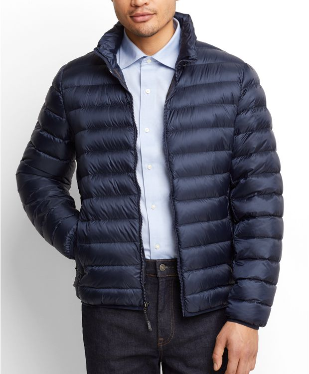 Patrol Packable Travel Puffer Jacket in Navy