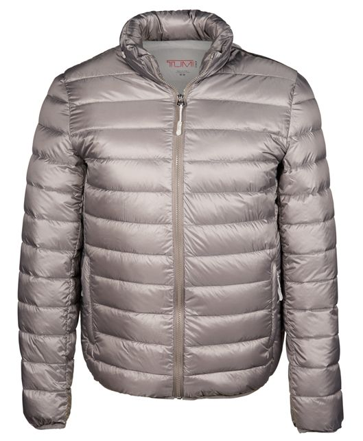 Patrol Packable Travel Puffer Jacket in Silver Grey