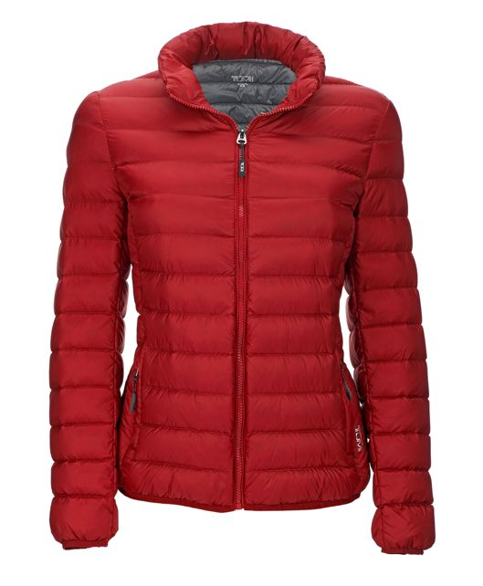 Women's - Clairmont Packable Travel Puffer Jacket in Crimson