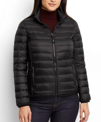 Womens black leather box jacket