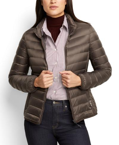 5b22b4e1e90 Women's - Clairmont Packable Travel Puffer Jacket - TUMIPAX Outerwear -  Tumi United States - MINK