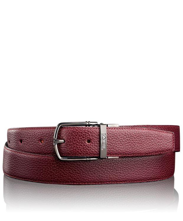 Leather Reversible Belt in Gun Metal/Reversible