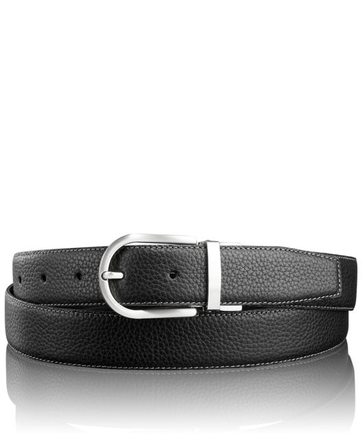 Horseshoe Reversible Belt in Nickel Reversible