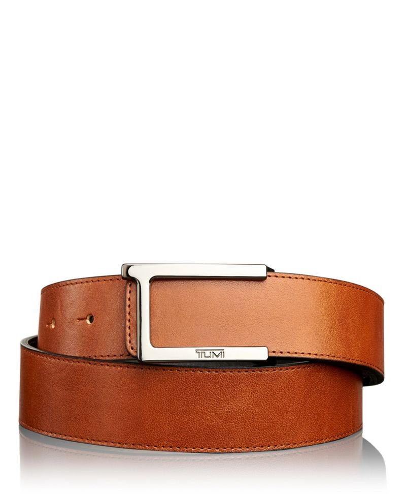 T Buckle Leather Reversible Belt
