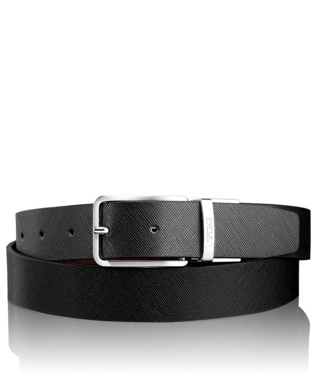 Printed Harness Reversible Belt in Nickel Reversible