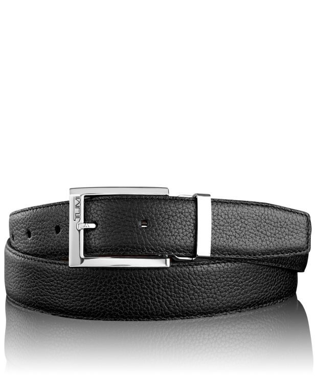 Pebbled Harness Reversible Belt in Nickel Reversible