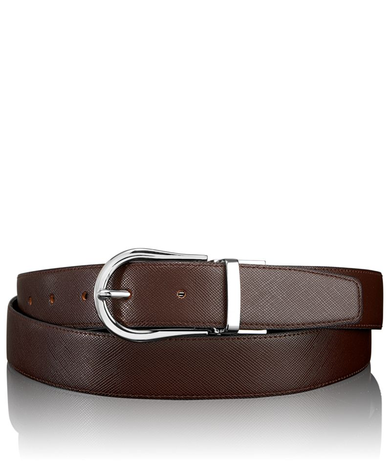 Saffiano Horseshoe Reversible Belt