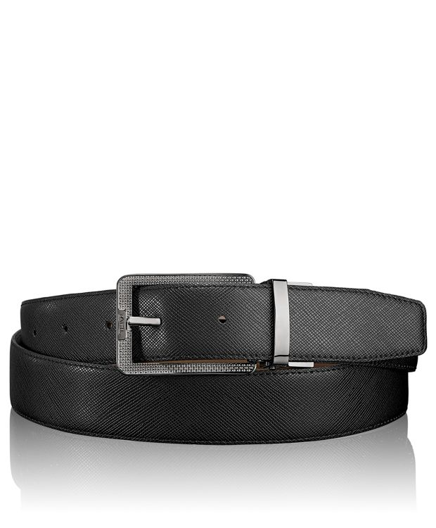 Ballistic Etched Harness Reversible Belt in Gun Metal/Reversible