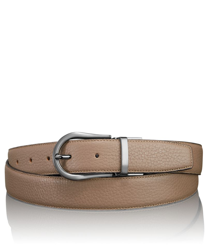 Pebbled Horseshoe Reversible Belt