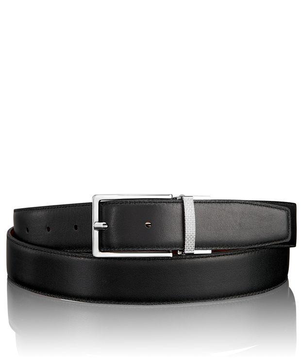 Etched Keeper Reversible Belt in Nickel Reversible