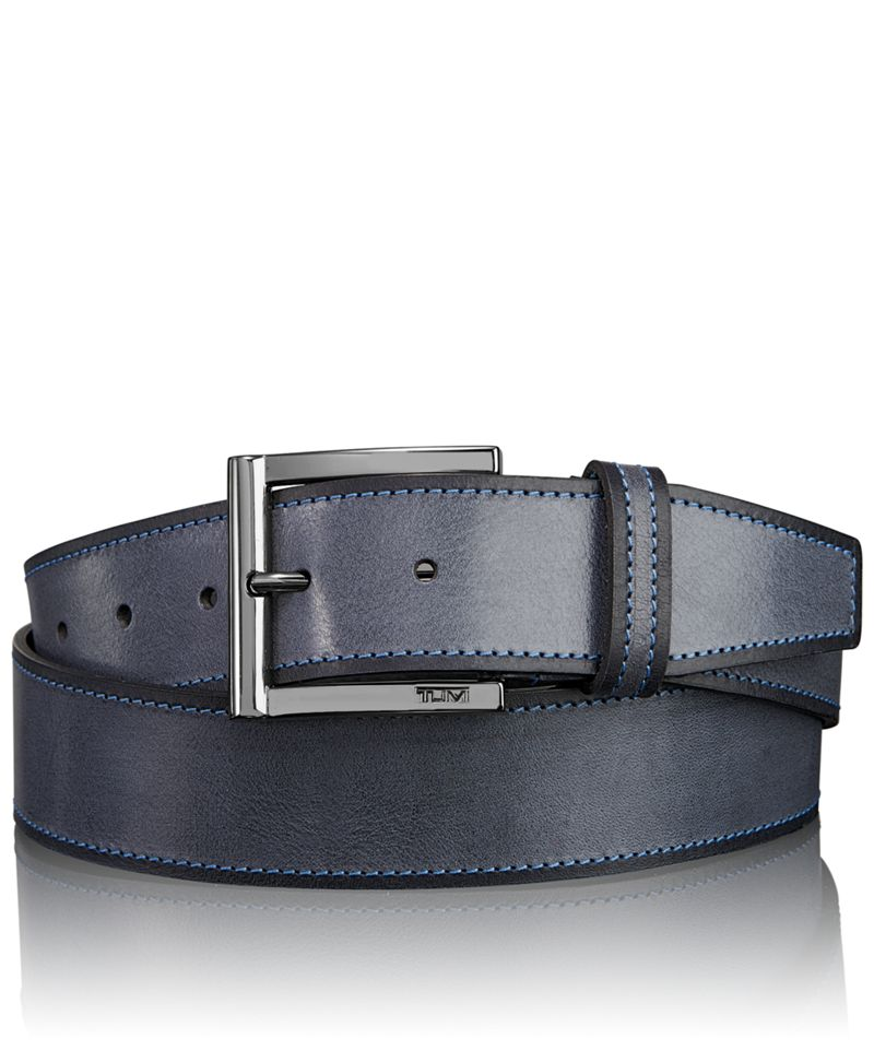 Two Toned Leather Adjustable Belt