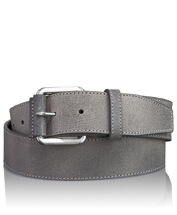 Casual Adjustable Belt in Nickel Satin/Grey