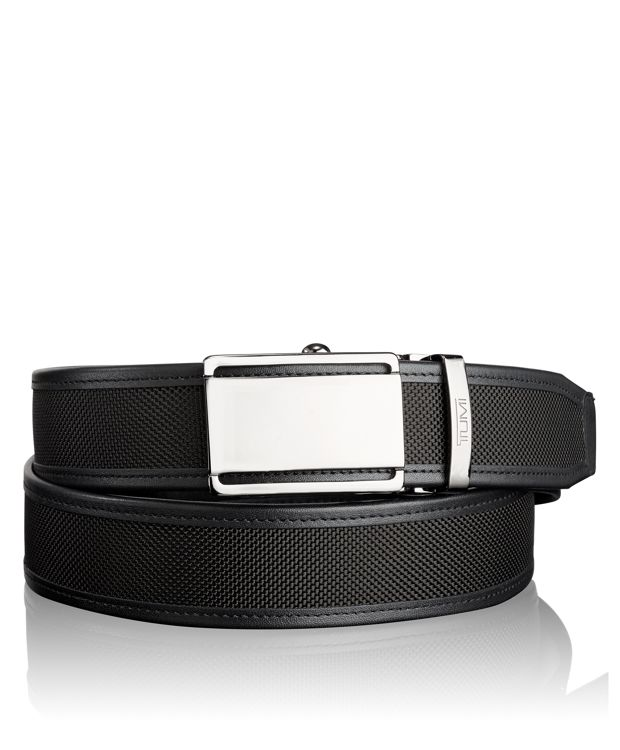 TUMI T-Fit Adjustable Belt in Gun Metal/Black