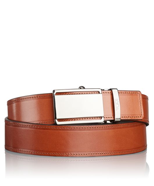 TUMI T-Fit Adjustable Belt in Gunmetal Tan