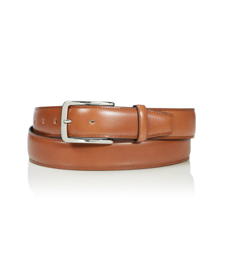 Contrast Edge Leather Belt