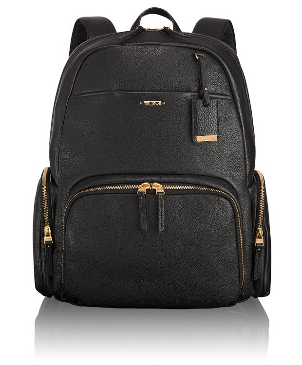 Calais Leather Backpack in Black