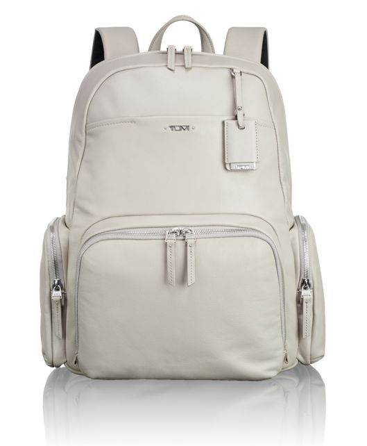Calais Leather Backpack in Grey