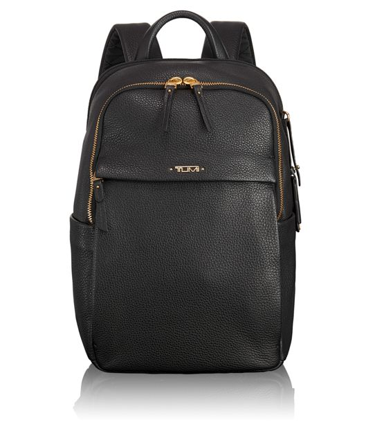Daniella Small Leather Backpack in Black