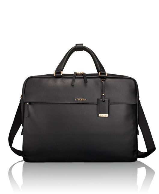 Westport Slim Leather Brief in Black