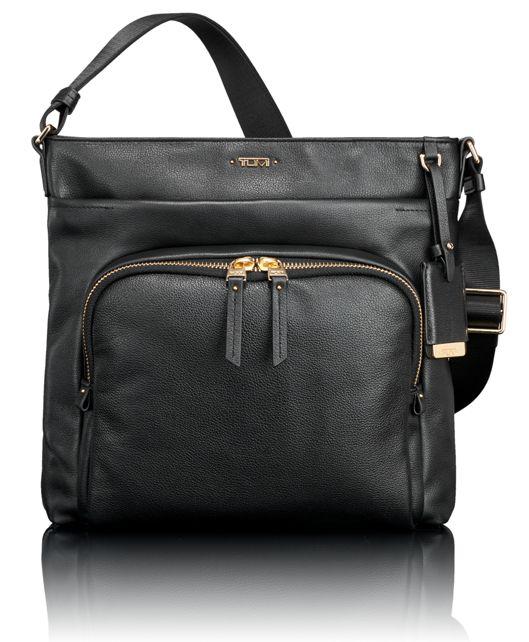 Capri Leather Crossbody in Black