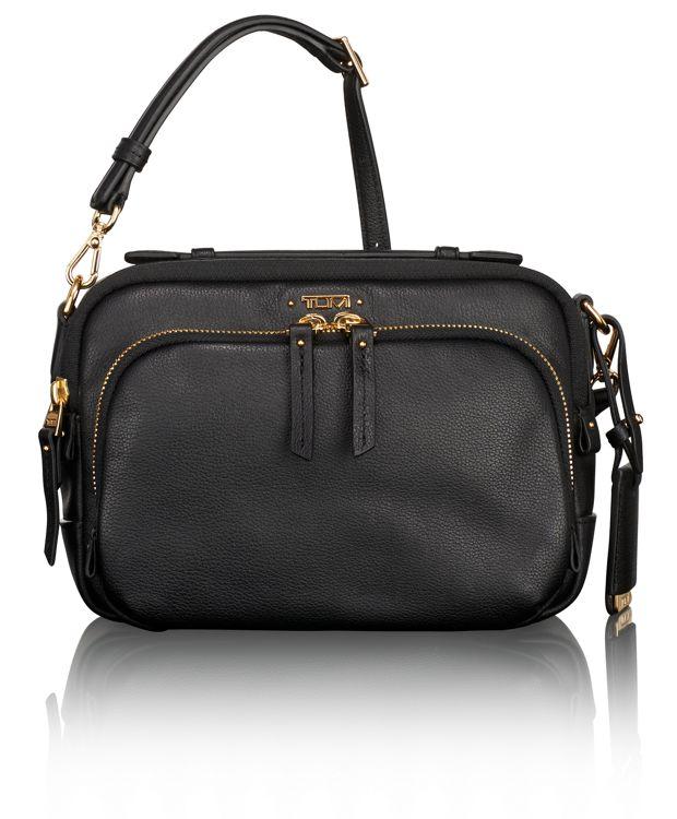 Luanda Leather Flight Bag in Black