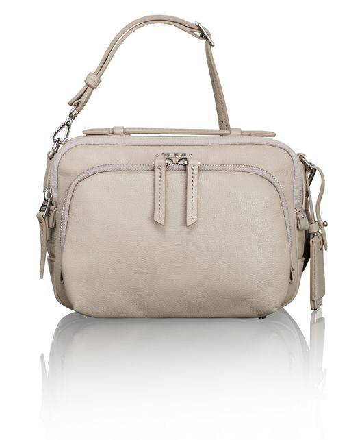 Luanda Leather Flight Bag in Grey