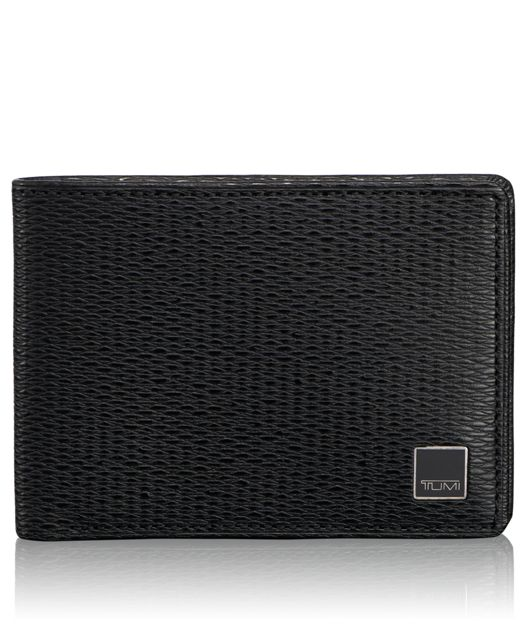Slim Single Billfold in Black