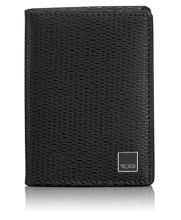 Gusseted Card Case with ID in Black