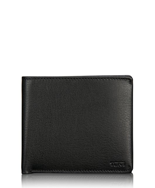 TUMI ID Lock™ Global Center Flip Passcase in Black Textured