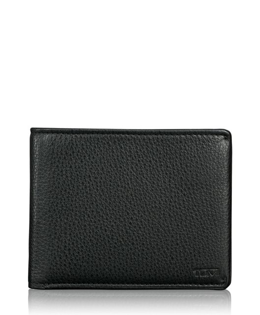 TUMI ID Lock™ Global Double Billfold in Black Textured