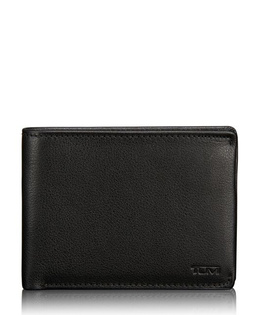 TUMI ID Lock™ Double Billfold in Black Textured