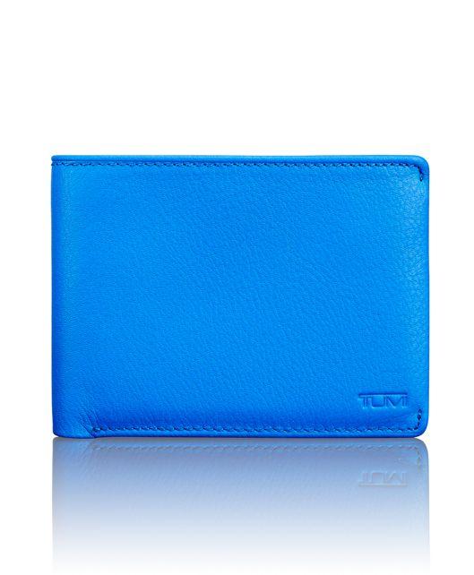 TUMI ID Lock™ Double Billfold in Electric Blue