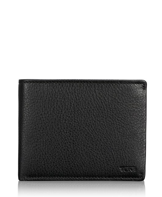 TUMI ID Lock™ Global Wallet with Coin Pocket in Black Textured