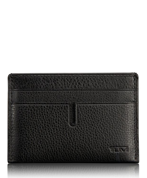 TUMI ID Lock™ Money Clip Card Case in Black Textured