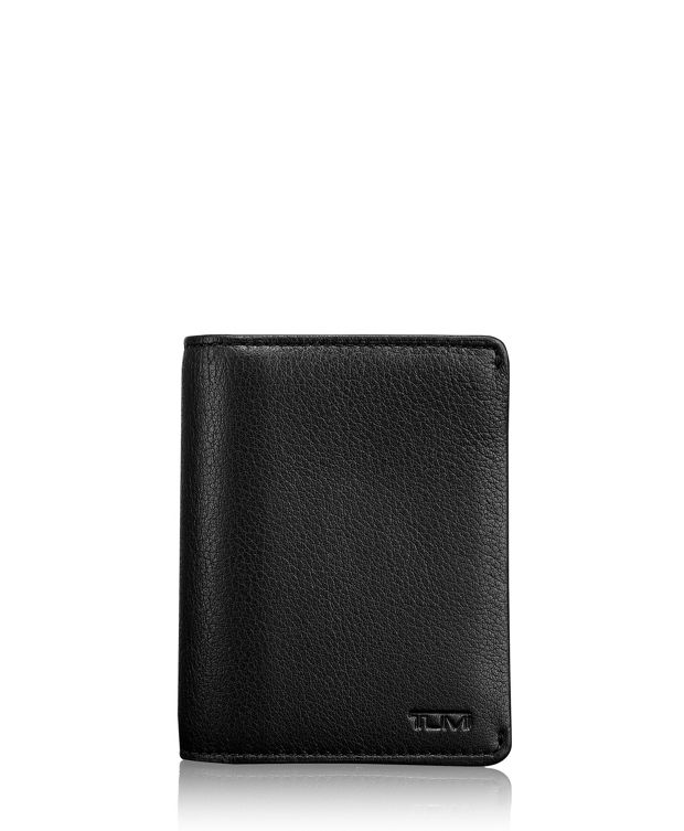 TUMI ID Lock™ Gusseted Card Case in Black Textured