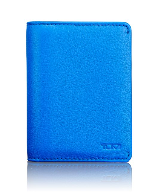 TUMI ID Lock™ Gusseted Card Case in Electric Blue